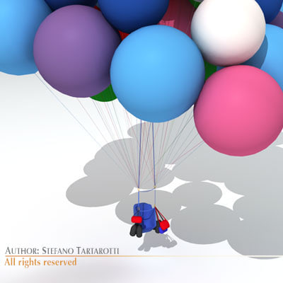 maya cluster balloons