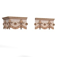 cornice classic curtain 3d max