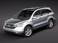 3d model honda crv cr-v suv