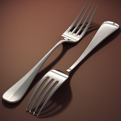 3d model fork