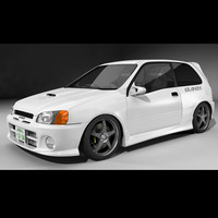 3d model toyota starlet glanza
