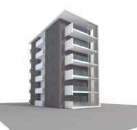 3d block houses model