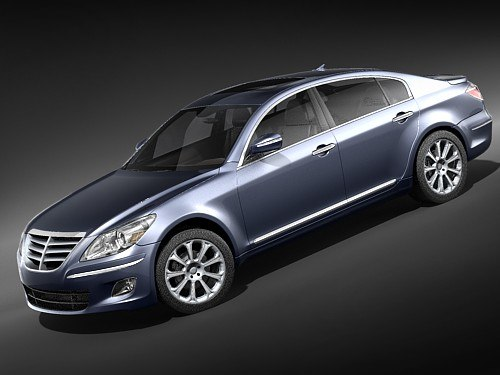 hyundai genesis sedan luxury 3d max