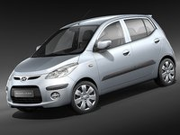hyundai i10 10 car 3d 3ds