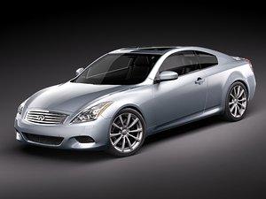 infiniti g37 coupe 3d model