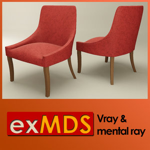 3ds max v-ray dressing room chair