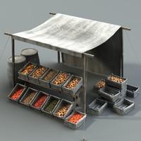 medieval fantasy stall 3d model