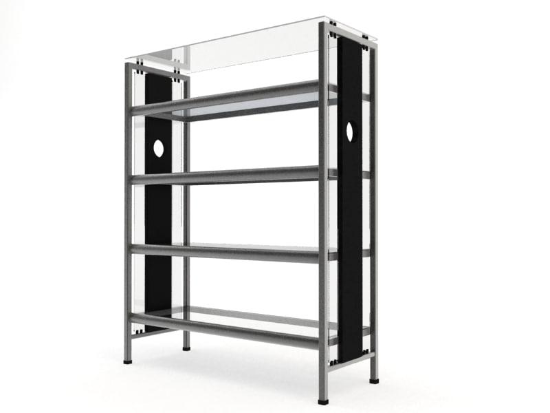 shelf materials 3d max