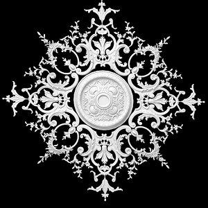 3d model plaster ceiling medallion