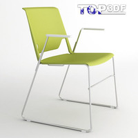 3d wire stacking chair model