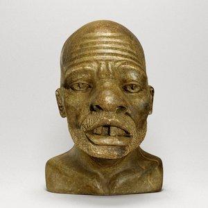 3d model african male bust zulu