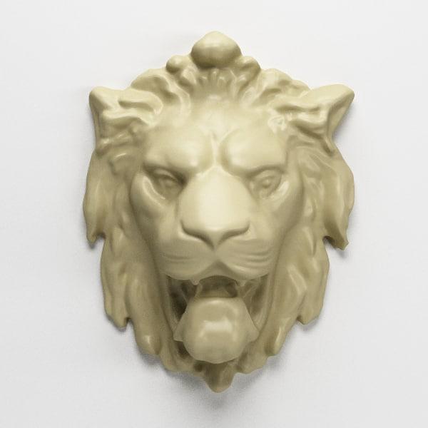 3d model lion animation