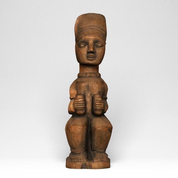 3d female figure kuyu model