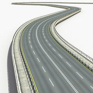3d road set modelled