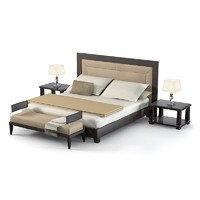 Smania modern double bed contemporary leather bedroom set