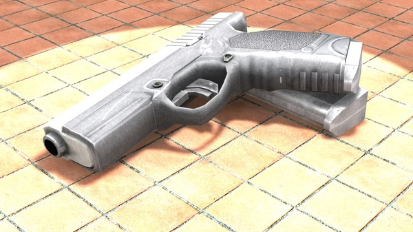 low-poly pistol steyr m-a1 max