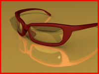 3d sunglasses monoblock frame