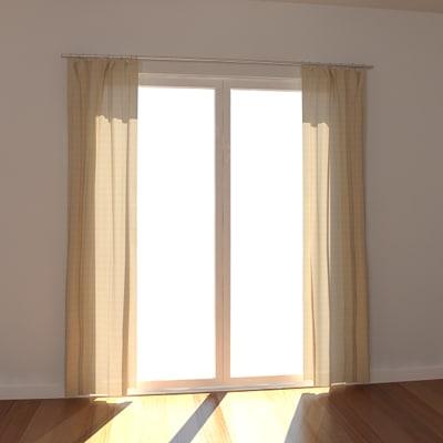 3ds max windows curtain