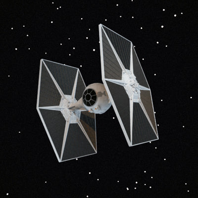 3d replica tie fighter model