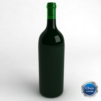 3d model bottle wine