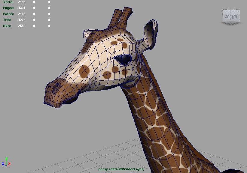3ds max giraffe