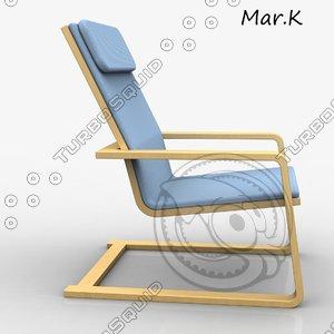 chair pello 3d model