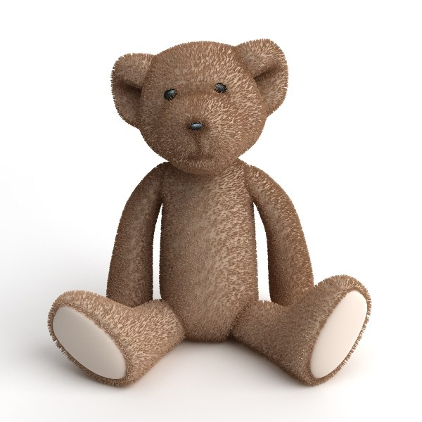 3d model bear plush