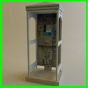 modeled telephone booth max