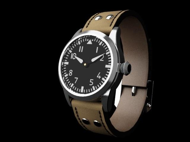 3dsmax flieger watch