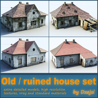 Old and ruined house set (Very detailed)