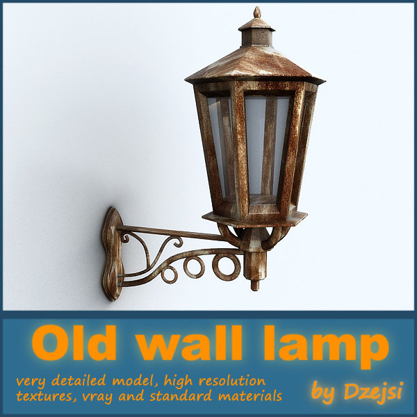 old wall street lamp 3d model