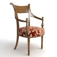 Photorealistic Antique Armchair