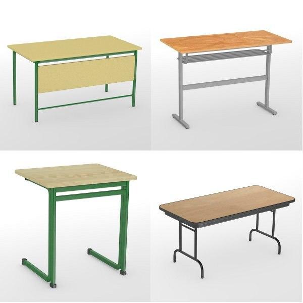 3d model school tables