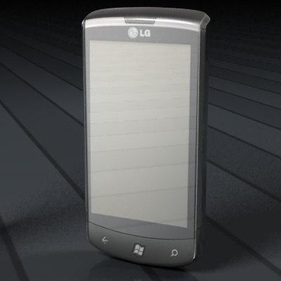 lg e 900 smartphone 3d c4d
