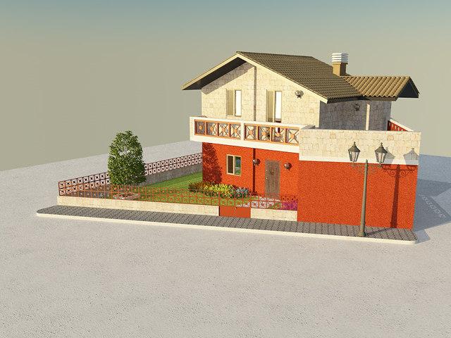 3d house villa model