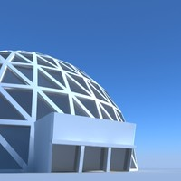building geodesic dome 3d model
