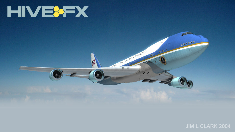 boeing 747 airforce af1 3d model