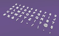 letters symbols 3 font 3ds