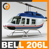 commercial bell 206l interior 3d model