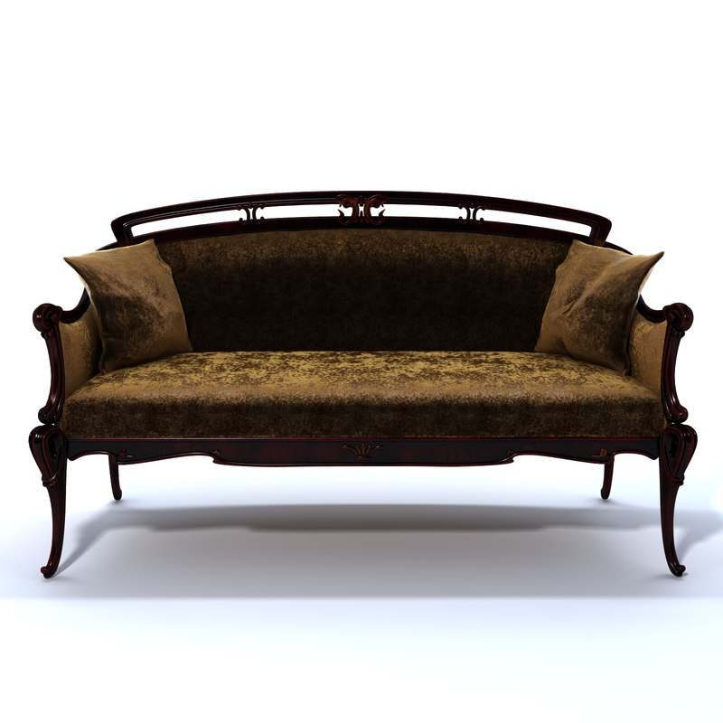 Art nouveau sofa art nouveau sofa i love how the material for Chaise 98 edouard francois