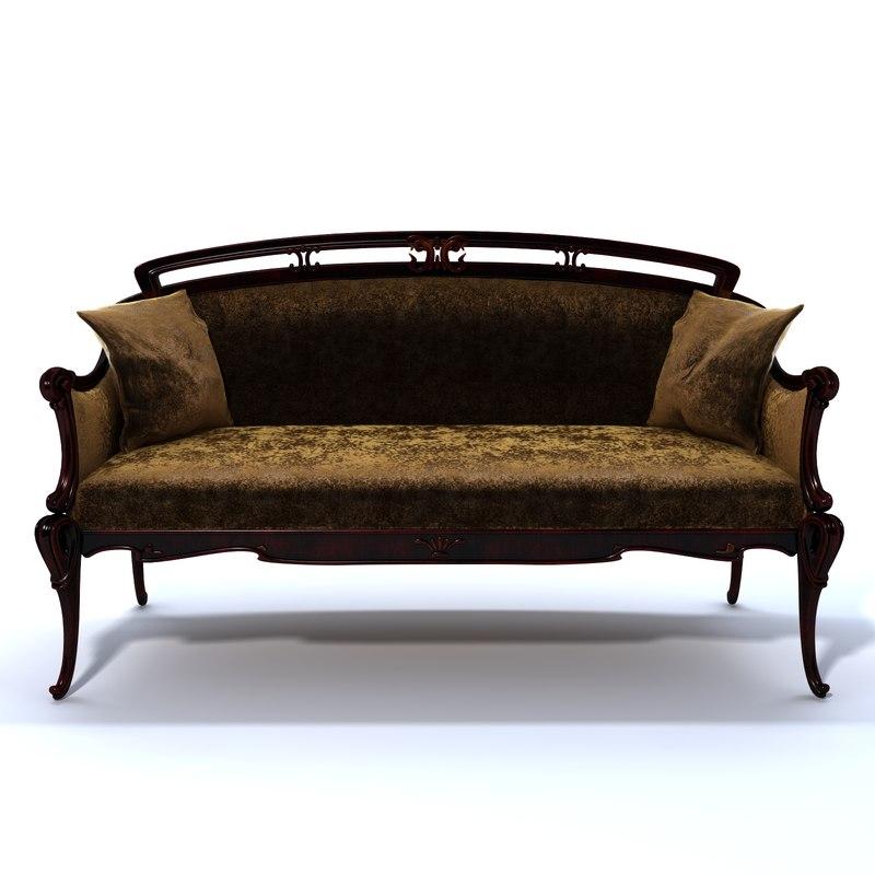Art nouveau sofa art nouveau sofa i love how the material for Chaise 98 edouard francois