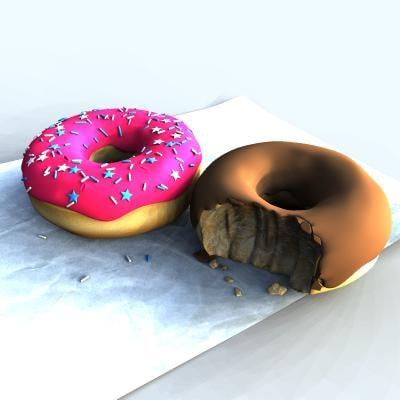 donuts 3d max