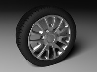3d model of rim wheel tire