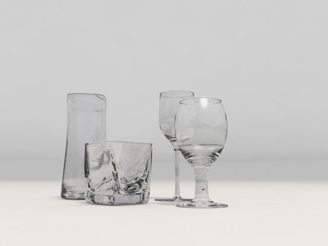 3d model of tall glass