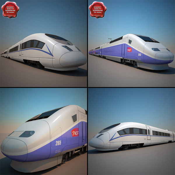 3ds max high-speed trains v1