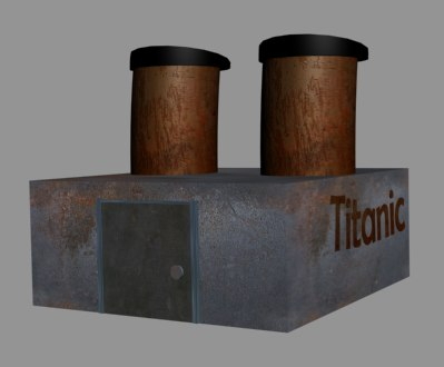 ship titanic chimney towers 3ds free