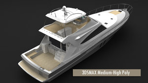 3d fisher motor yacht