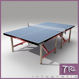 ping pong table butterfly 3d model