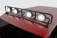 roof truck light rack 3d model
