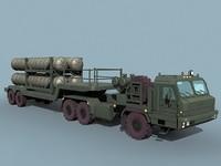russian sa-10 sa-20 transporter 3d dxf